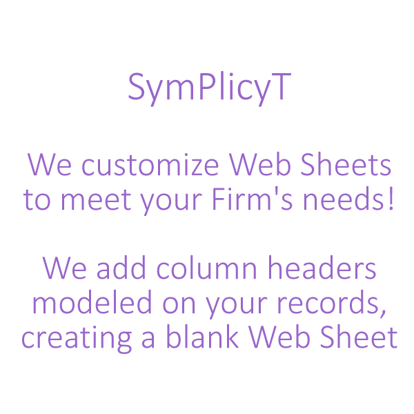 SymPlicyT Web Sheet Introduction