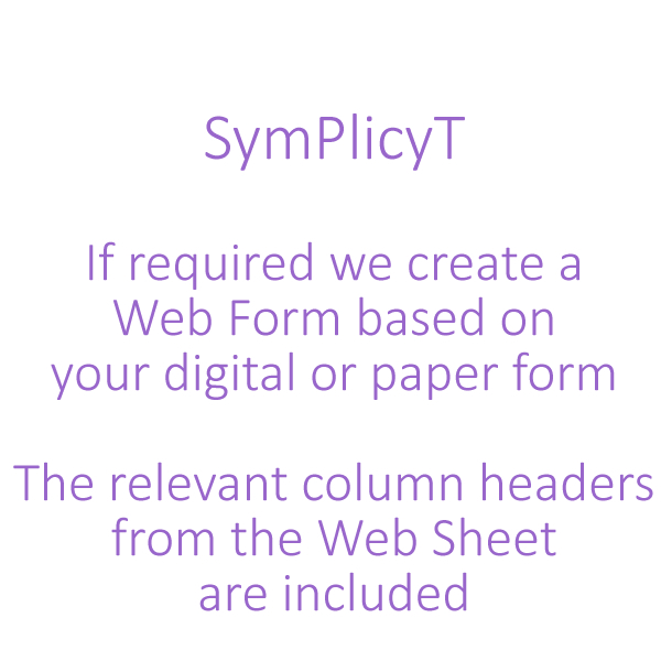 SymPlicyT Web Form Introduction
