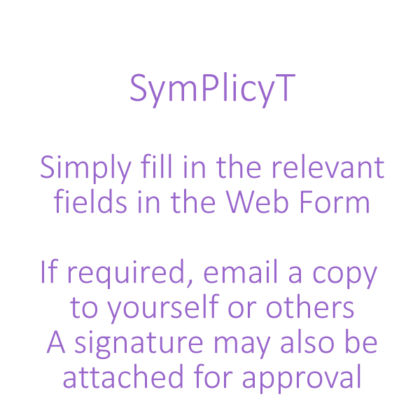 SymPlicyT Filled in Web Form